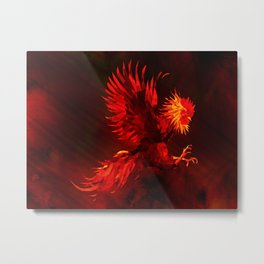 Fire Rooster - Chinese New Year 2017 Metal Print