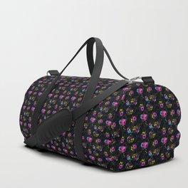 Flowers Glow In The Dark Duffle Bag