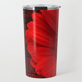 Red African Daisy Praise The Lord Travel Mug