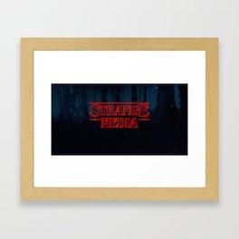Strange Media - Title Card Framed Art Print
