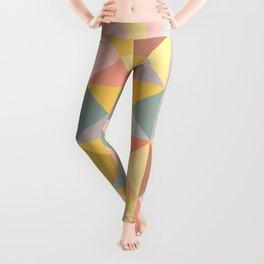 Earthy Pastel Triangles Leggings