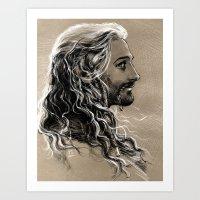 flowing hair Art Print