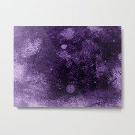 Violet grunge scratches texture Metal Print