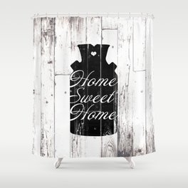 Home Sweet Home Rustic Jug Shower Curtain