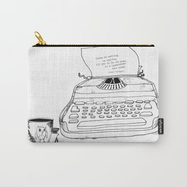 Earnest Hemingway Writing on Typewriter Carry-All Pouch