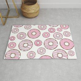 Pattern Of Donuts, Sprinkles, Frosting - Pink Rug