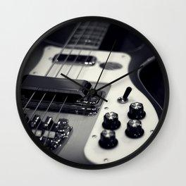 Rickenbacker Bass [B&W] Wall Clock