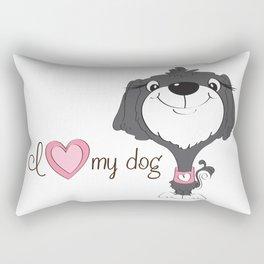 BellaRina - I Love My Dog Rectangular Pillow