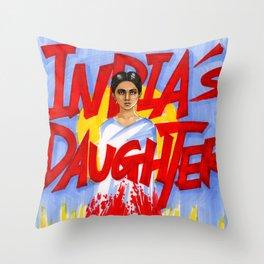 India's daughter Throw Pillow