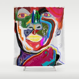 A KELLI OF MANY COLORS Shower Curtain
