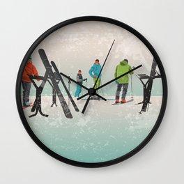Skiers Summit Wall Clock
