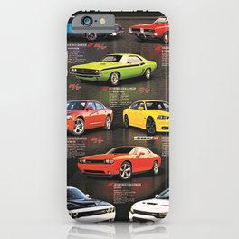 Charger - Challenger History Automotive Evolution Poster iPhone Case