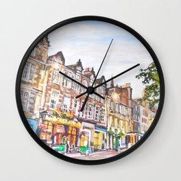 Grassmarket Dusk, Edinburgh Wall Clock