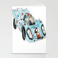 porsche Stationery Cards featuring Porsche 917 by Carlota Atlee