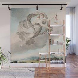 Robert John Thornton - Flora Dispensing Her Favours on the Earth Wall Mural