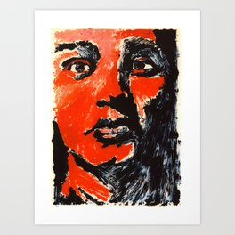 untitled monoprint Art Print