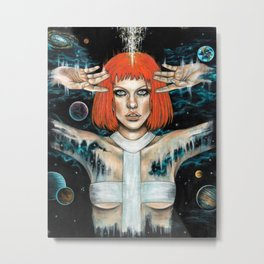 Leeloo Dallas Metal Print