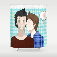 sterek Shower Curtains featuring Sterek #1 by liloloveyou024