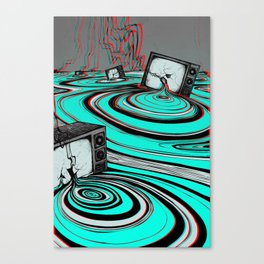 Lake of Static Canvas Print