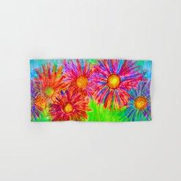 Bright Sketch Flowers Hand & Bath Towel