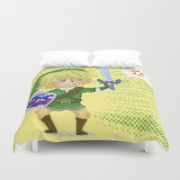 hyrule Duvet Covers featuring Zelda- Hyrule fool by Mango Mamacita