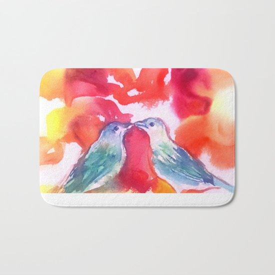 Lovebirds Bath Mat