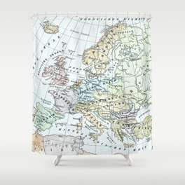 Vintage Map of Europe (1899) Shower Curtain