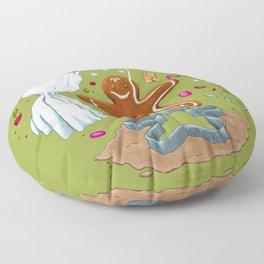 Gingerbread Joy Floor Pillow