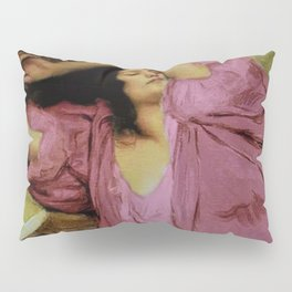 """Classical masterpiece """"Woman Stretching on Couch"""" by Emile Victor Prouvé Pillow Sham"""