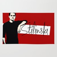 stiles stilinski Area & Throw Rugs featuring Team Human: Stilinski  by Keyweegirlie