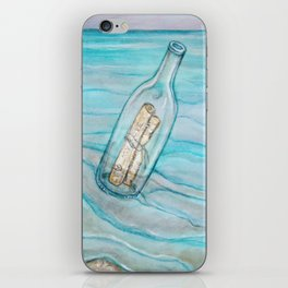 Message In A Bottle * Daydreaming Along the Shore iPhone Skin