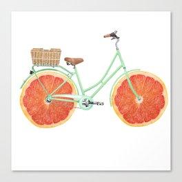 Vintage Bike Grapefruit Canvas Print