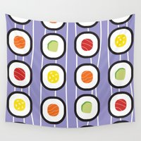 sushi Wall Tapestries featuring Sushi by Costanza Reda