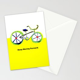 Keep moving forward- bicycle-Fan Lu Stationery Cards
