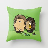 wasted rita Throw Pillows featuring Wasted by mangulica