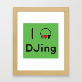 I heart DJing Framed Art Print