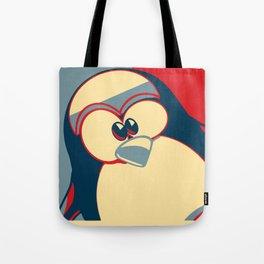 Linux tux penguin Obama poster Tote Bag