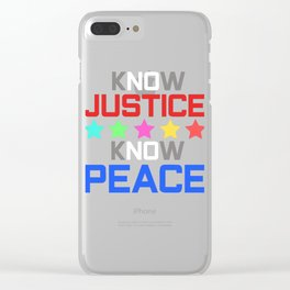 Spread the Love with this Peace of mind Tshirt Design Know peace Clear iPhone Case