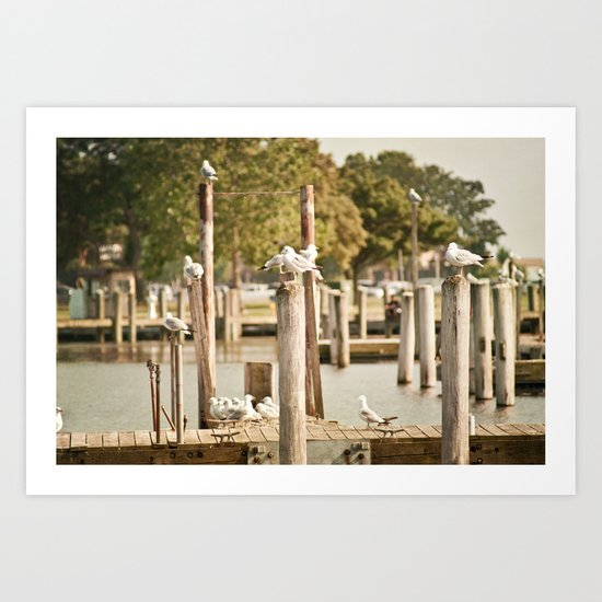 The docks Art Print