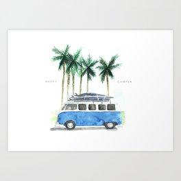 Vintage Camper Van · Surf Trip · Vintage Vehicle · Classic Camper van Art Print