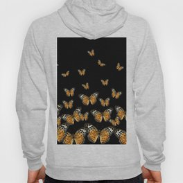DECORATIVE BLACK COLOR ART & FLYING BUTTERFLIES Hoody