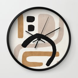 Abstract shapes art, Mid century modern art Wall Clock