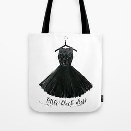 Little black dress on a hanger Tote Bag