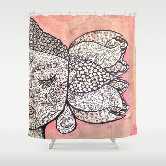 Zen Shower Curtain By Halliemcintyre