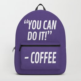 You Can Do It - Coffee (Ultra Violet) Backpack