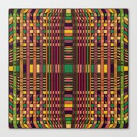 grid Canvas Prints featuring Grid by Glanoramay