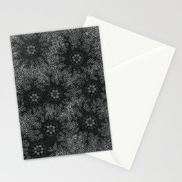 Authentic Aboriginal Art - Waterhole Dreaming B&W Stationery Cards
