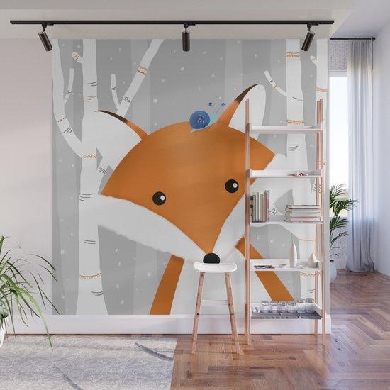 Fox and snail by narais