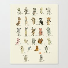 Animal Alphabet, English Canvas Print
