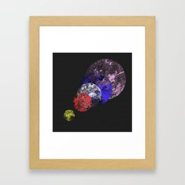 Aligned Universe - Space Abstract Framed Art Print